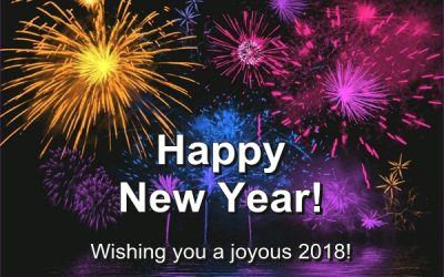 Wishing You A Joyous 2018 – Happy New Year…
