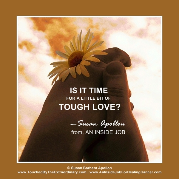 It's time for tough love…