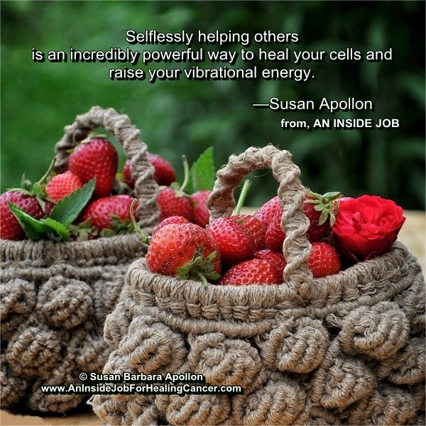 Selflessly helping others is an incredibly powerful way to heal your cells…