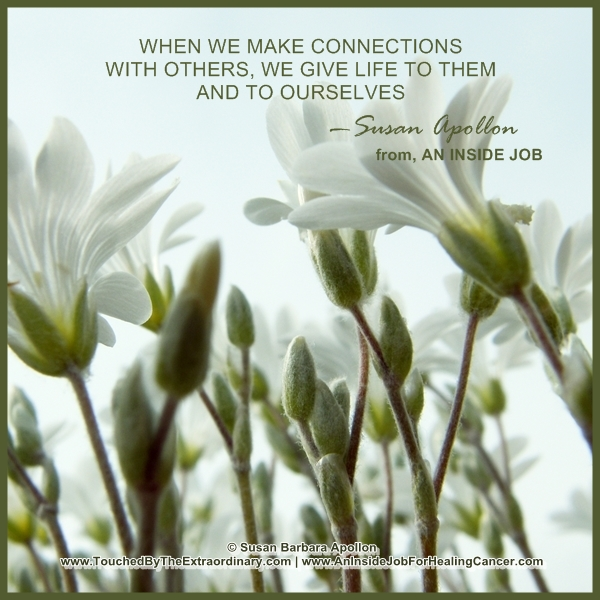When we make connections with others…