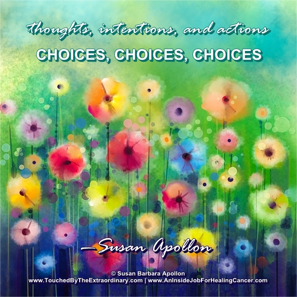 Choices: Thoughts, Intentions, and Actions…