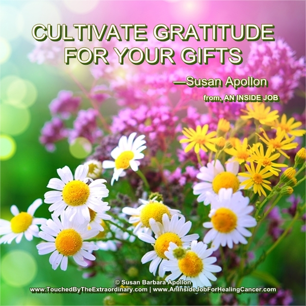Cultivate Gratitude For Your Gifts…