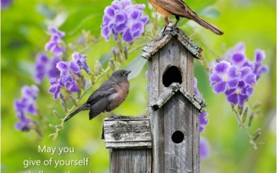 May you give of yourself and allow others to give to you…