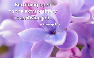 Becoming open to the extraordinary is an inside job…