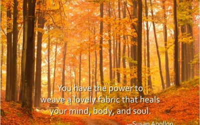 You have the power to weave a lovely fabric that heals…