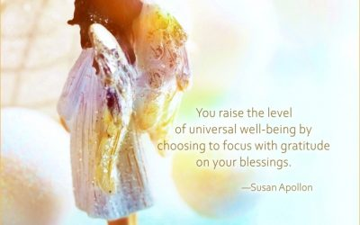 You raise the level of universal well-being…