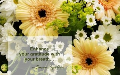 Enhance your gratitude with your breath…