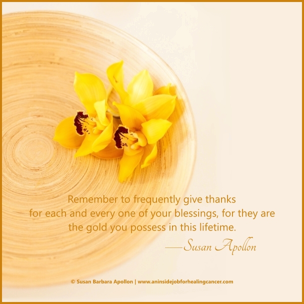 Remember to frequently give thanks…