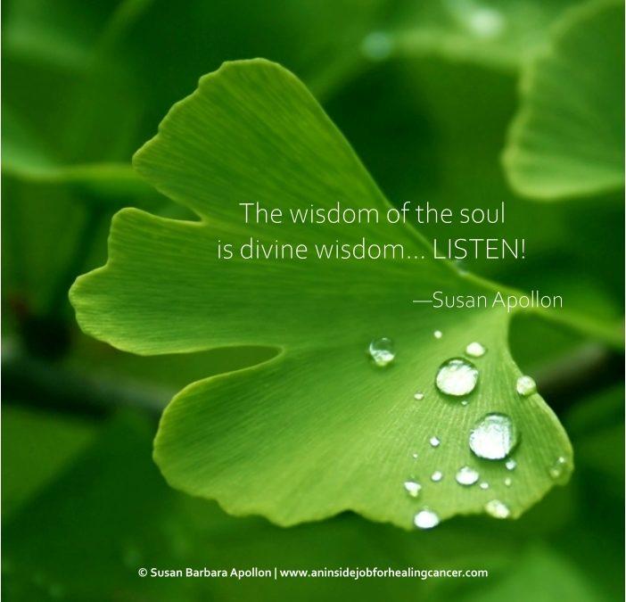 The wisdom of the soul is divine wisdom… LISTEN!
