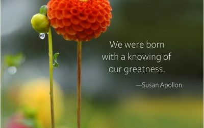 We were born with a knowing of our greatness.