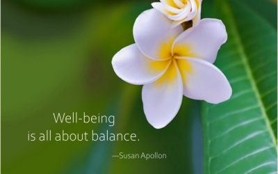 Well-being is all about balance…